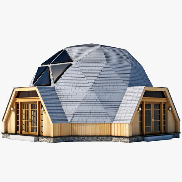 Geodesic dome house c4d for Geodesic home plans