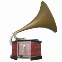 Gramophone Low Poly