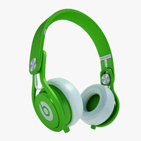 headphones monster beats 3d model