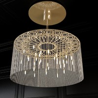 ngoma drum chandelier 3d max