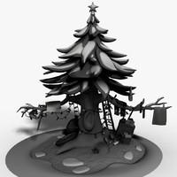 maya christmas tree