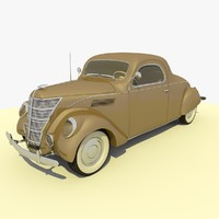 1937 Ford Lincoln Car Tan
