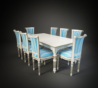 moletta chair table 3d max