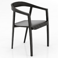 ro chair wood 3d 3ds