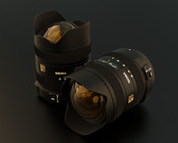 3d model of wide sigma lens
