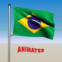 brazil flag 3d max