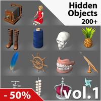 low-poly hidden object games 3d max