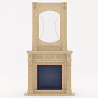 3d marble fireplace model