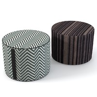 3d missoni home pouf