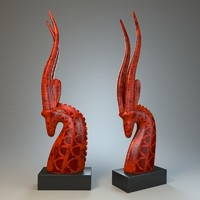 3ds max sculpture antelope