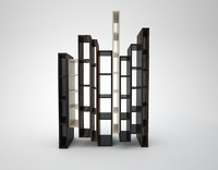 3d skyline bookcase model