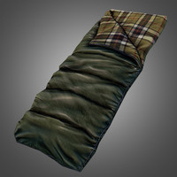 3d model sleeping bag