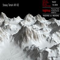 3d model snowy terrain m1-02