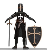 knight templar 3d max