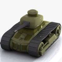 3d cartoon tank toon