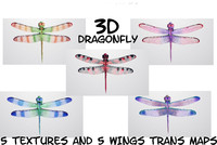 dragonfly fly obj