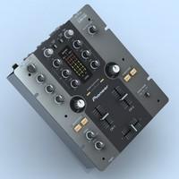 3d model pioneer djm-250 mixer