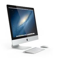 3d apple imac model
