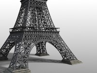 eiffel tower 3d fbx