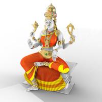 indian goddess 3d model