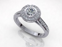 Halo Solitaire Diamond Ring