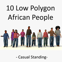 3d african standing characters