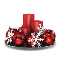 3d model of table decoration christmas