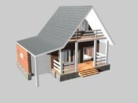 3d facade house