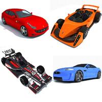 sport racing cars 3d max
