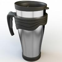 3d model thermos mug