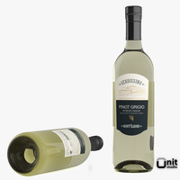 Pinot Grigio white Wine Bottle