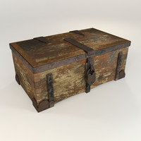 antique trunk 3d 3ds