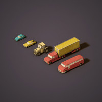 3d model urban vehicles