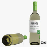 3d bottle wine sauvignon blanc