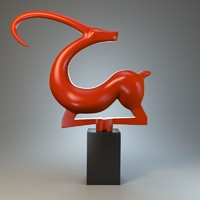 sculpture capricorn 3d max