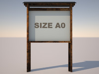 3d model of display a0 format