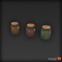 Low Poly Jars