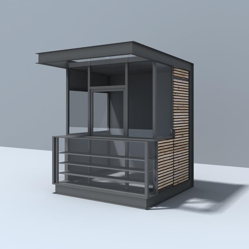 modern pavilion 3d model. Black Bedroom Furniture Sets. Home Design Ideas