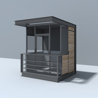 3d modern pavilion