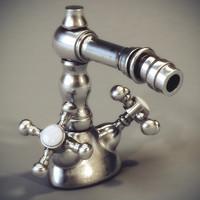 classic faucet volga cristal 3d model