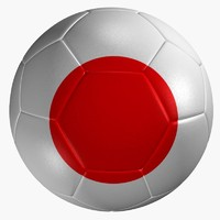 soccer ball japan flag 3d model