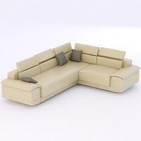 modern sofa 3d 3ds
