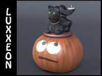 halloween centerpiece candle flame 3d model