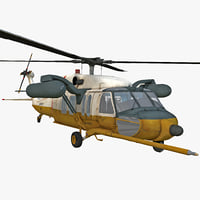 mh-60 black hawk 2 3d model
