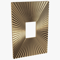 3d wall plaque metal model