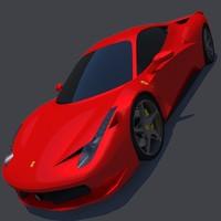 realistic ferrari italia 3d model