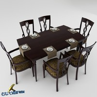 3d dining table set