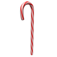 candy cane double red 3d model