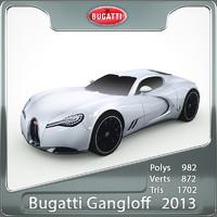 3d bugatti gangloff concept model