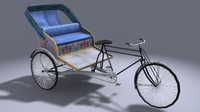 Cycle Rickshaw-Low Poly